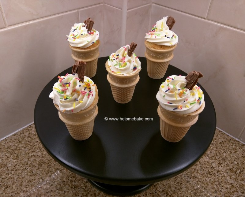 how to make ice cream cupcakes
