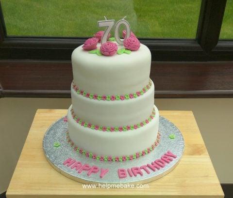 Fabulous 70Th Birthday Cake Help Me Bake Help Me Bake Funny Birthday Cards Online Alyptdamsfinfo