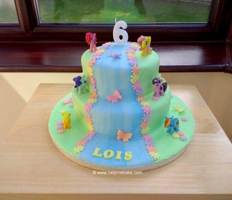 Incredible My Little Pony Cake Help Me Bake Help Me Bake Personalised Birthday Cards Arneslily Jamesorg