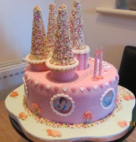 Superb Princess Castle Birthday Cake Help Me Bake Help Me Bake Personalised Birthday Cards Cominlily Jamesorg