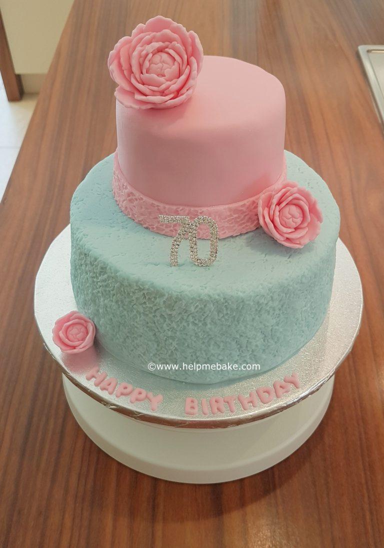 2 Tier Birthday Fruit Cake