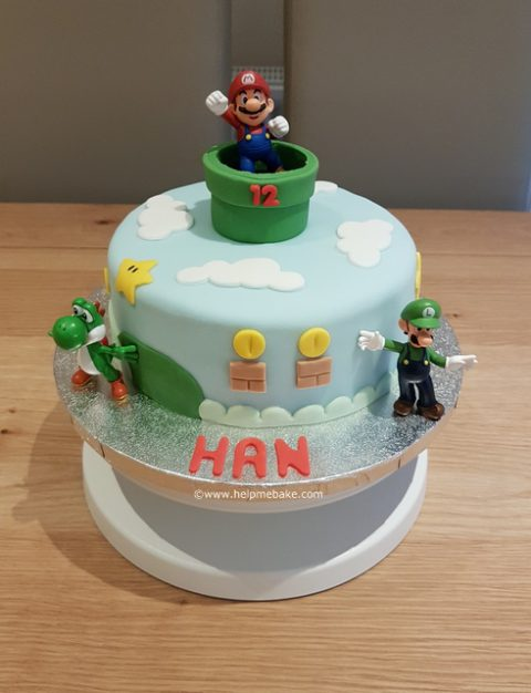 Magnificent Super Mario And Friends Cake Help Me Bake Help Me Bake Funny Birthday Cards Online Necthendildamsfinfo