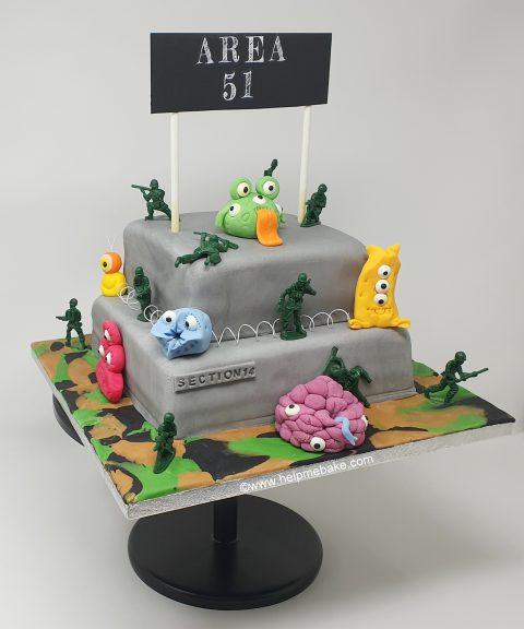 Miraculous Area 51 Alien Cake Help Me Bake Help Me Bake Funny Birthday Cards Online Elaedamsfinfo