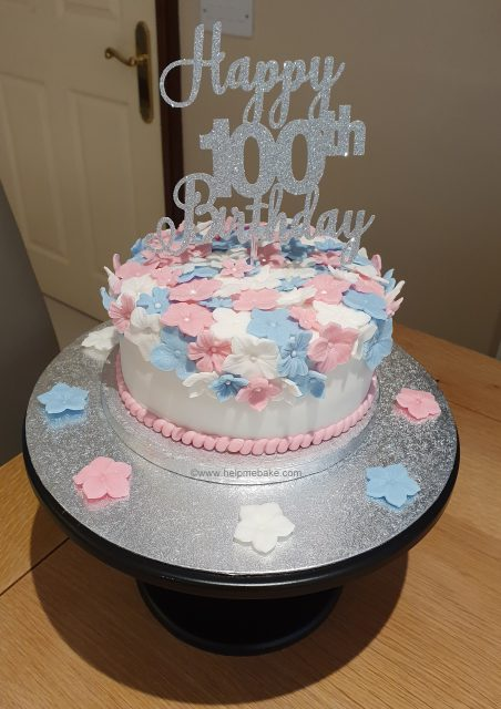 Awe Inspiring 100Th Birthday Cake Tutorial Help Me Bake Help Me Bake Birthday Cards Printable Riciscafe Filternl